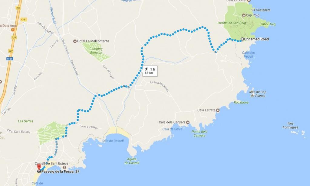 Wandelen langs de Costa Brava